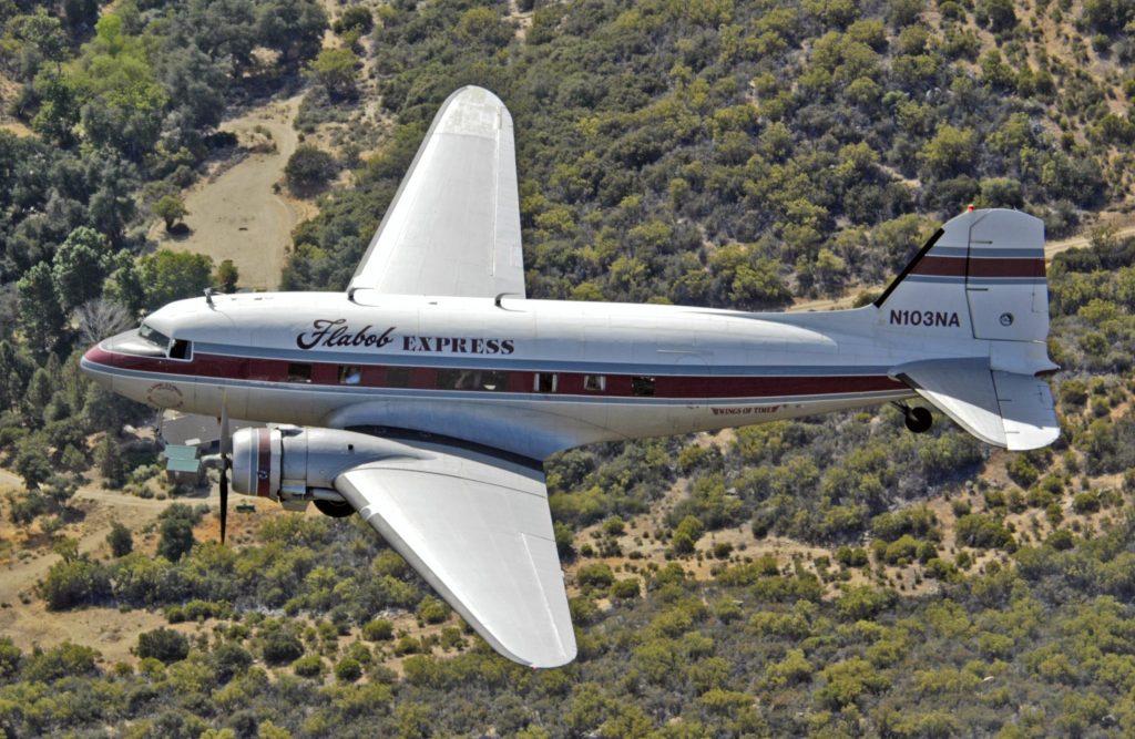 C-47A-30-DL 42-23669/FD879 – Flabob Express; Photo via Jon Goldenbaum – Flabob