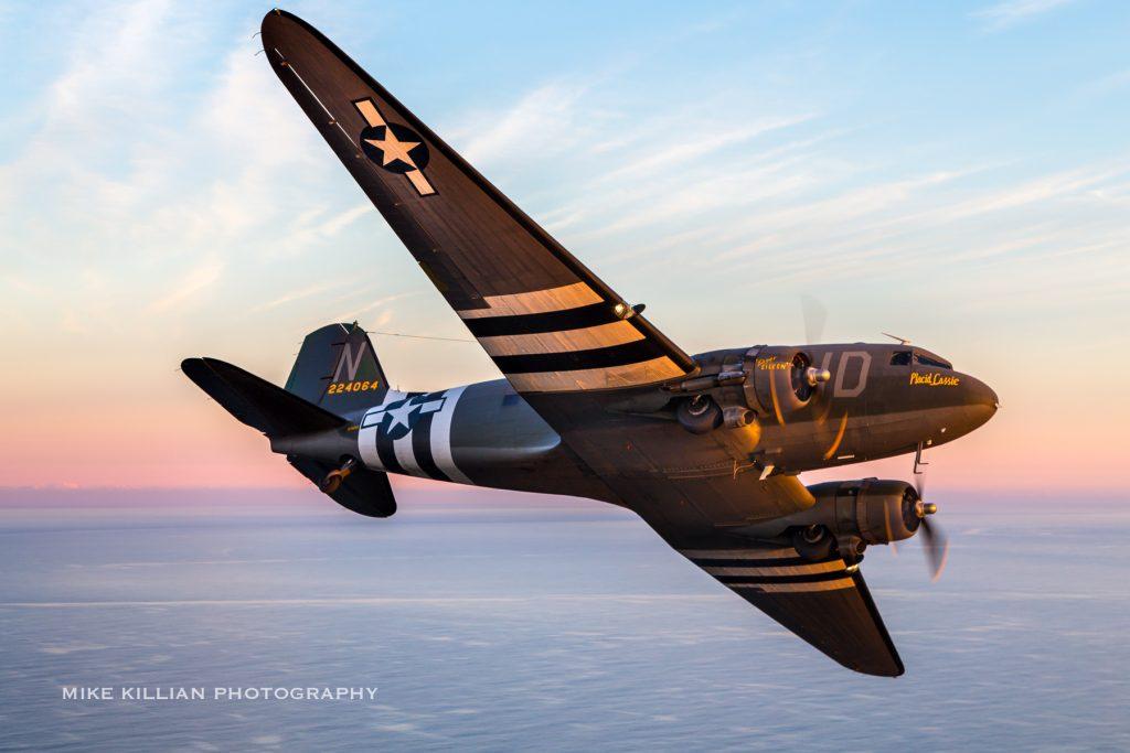 C-47A-40-DL Skytrain 42-24064 – Placid Lassie – N74589 – Lead Aircraft; Photo by Mike Killian