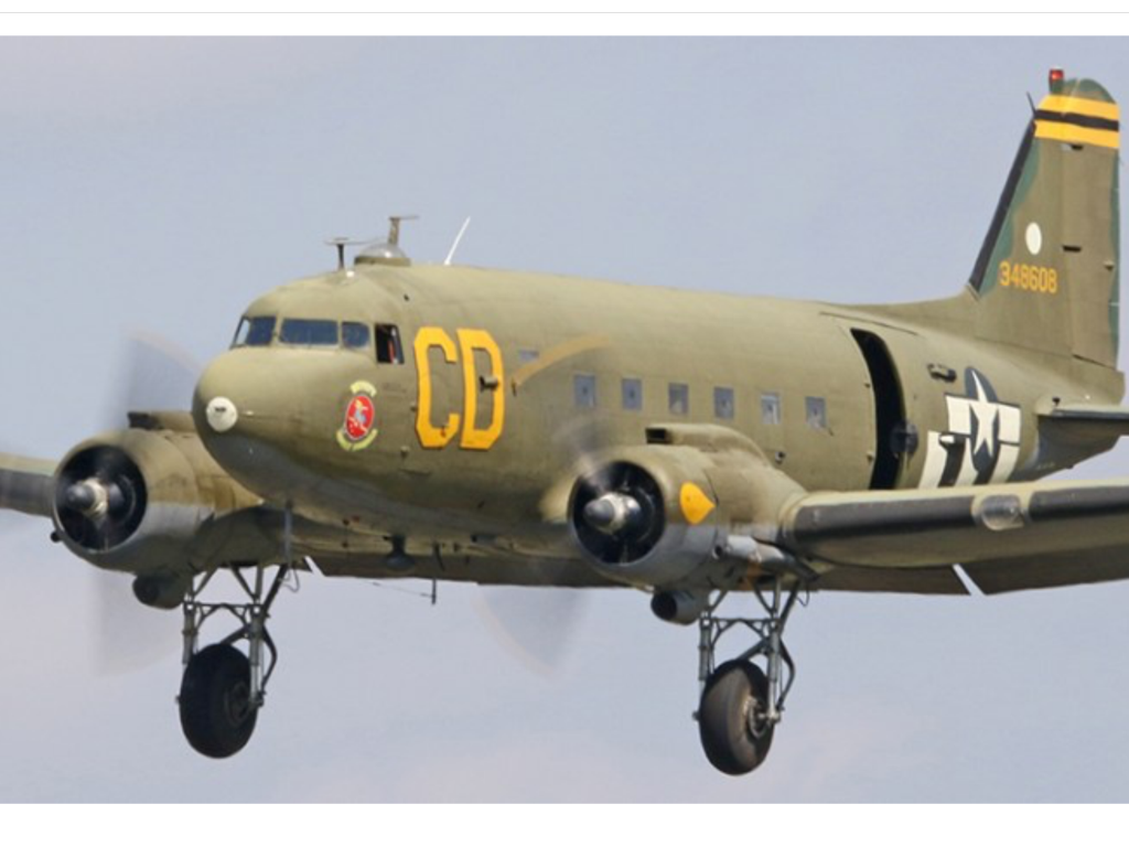 C-47B-5-DK 43-48608 – Betsy's Biscuit Bomber; Photo via Betsy's Biscuit Bomber crew