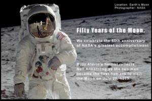 50 years ago, Neil Armstrong and Buzz Aldrin became the first humans to walk on the Moon.