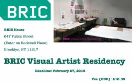 This summer, BRIC will hold its second annual Visual Artist Residency program at BRIC House.