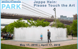 Public Art Fund announces Please Touch the Art, a major new exhibition by Danish artist Jeppe Hein featuring 18 playful sculptures designed specifically for public interaction at Brooklyn Bridge Park.