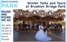 Follow the journey of Jane's Carousel from Idora Park in Ohio to Brooklyn Bridge Park, told by the family who brought the historic structure to its new home in 2011 during the first Winter Talks and Tours on Wednesday, January 27, 2016.