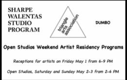The Sharpe-Walentas Studio Program and Triangle Arts Association are pleased to announce their annual open studio events