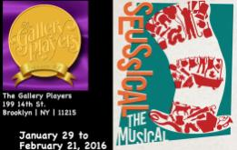 Gallery Players continues its 49th season with Seussical, the fantastic family musical based on the books of Dr. Seuss, opening January 30th at 7:30pm and running through February 21, 2016.