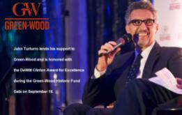 John Turturro lends his support to Green-Wood and is honored with the DeWitt Clinton Award for Excellence during the Green-Wood Historic Fund Gala on September 16. ©Mark D Phillips