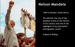 Mandela campaigned against F.W. de Klerk