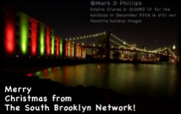 ©Mark D Phillips Empire Stores in DUMBO lit for the holidays in December 2006 is still our favorite holiday image!