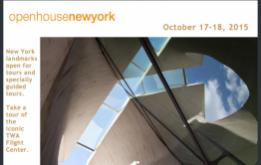 For two days each October (October 17-18, 2015), the Annual Open House New York Weekend unlocks the doors of New York's most important buildings, offering an extraordinary opportunity to experience the city and meet the people who design, build, and preserve New York.