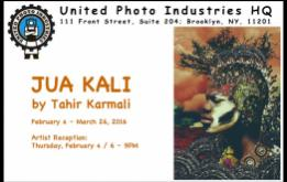 United Photo Industries is thrilled to announce their next exhibition in the new storefront gallery in the heart of DUMBO Brooklyn, JUA KALI by Tahir Karmali, an exciting and emerging photographic talent, with an opening reception on Thursday, February 4, 2016, from 6 to 9 PM.