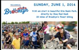 Registration for the Tour de Brooklyn presented by Jamis will open on Wednesday, May 14th, for the 20 mile ride through Brooklyn on June 1 beginning from Erie Basin Park in Red Hook.