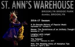 ST. ANN'S WAREHOUSE ANNOUNCES 2016-17 SEASON IN ITS NEW WATERFRONT HOME, OPENING WITH THE WORLD PREMIERE OF TAYLOR MAC'S WILDLY AMBITIOUS A 24-DECADE HISTORY OF POPULAR MUSIC