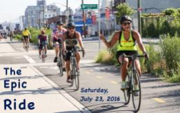 Registration is now open for The 8th annual Epic Ride, presented by Brooklyn Greenway Initiative (BGI), a 30-45-mile bike ride from Greenpoint to Riis Park Beach which will take place on Saturday, July 23, 2016