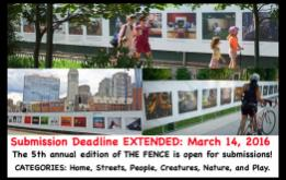 The 5th annual edition of THE FENCE is open for submissions! THE FENCE is an outdoor photography exhibition series with an annual audience of more than 3 million visitors.