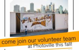 PHOTOVILLE – New York City's FREE premier photo destination produced by United Photo Industries – is looking for Volunteers.