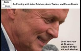 John Grisham at St Ann's Church in Brooklyn Heights