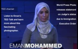 The blanket Executive Order signed by President Trump has caused respected Washington D.C. photojournalist Eman Mohammed to cancel her plans to serve as a judge of the prestigious World Photo competition in Amsterdam.