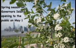 New Yorkers will be able to experience the Spring season on Governors Island, beginning May 1, extending its public access season by nearly one month.