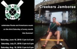 Creekers Jamboree, Roots and Americana music, beginning Saturday, June 16