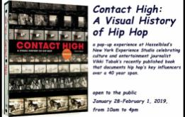 Hasselblad is hosting a pop-up experience at its New York Experience Studio celebrating Contact High: A Visual History of Hip Hop by culture and entertainment journalist Vikki Tobak
