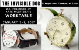 As part of PS122's Coil Festival, The Invisible Dog Art Center co-presents the U.S. premiere of Worktable, an installation by Kate McIntosh from January 5 to 9, 2017.