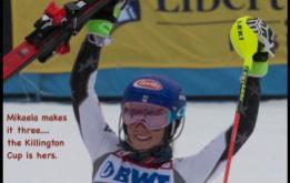 Mikaela Shiffrin wins her third straight Killington Cup in slalom.  ©Mark D Phillips