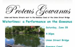 Waterlines, by Daniel Rothbart, will make its debut on the historic Gowanus Canal on Saturday, June 28, at 4:30pm.