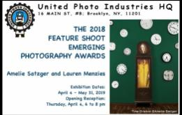 United Photo Industries presents the work of two artists, Amelie Satzger and Lauren Menzies, winners of the 2018 Feature Shoot Emerging Photography Awards.
