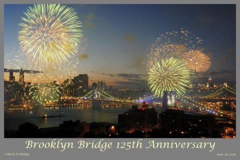 125th Anniversary of the Brooklyn Bridge, the view from Brooklyn Heights ©Mark D Phillips