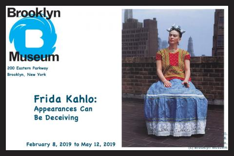 Frida Kahlo: Appearances Can Be Deceiving comes to the Brooklyn Museum from February 8, 2019, to May 12, 2019.