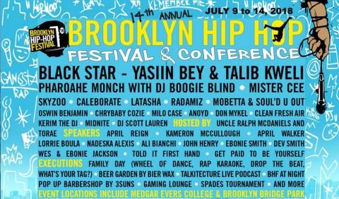 2018 marks the 14th installation of the acclaimed Brooklyn Hip-Hop Festival (BHF)
